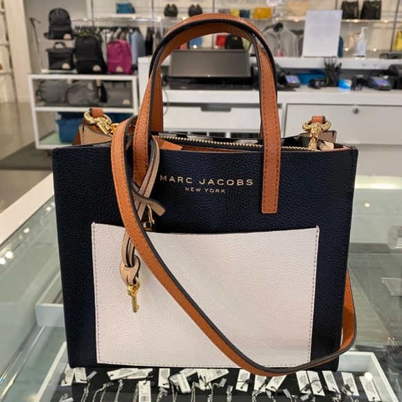 MARC JACOBS MINI GRIND COLORBLOCKED TOTE BAG NWT